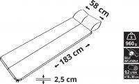Karimatka samonafukovací 183x58x2,5cm s polštářem NAVY