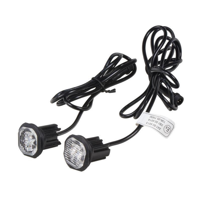 2x PROFI výstražné LED světlo vnější oranžové, 12-24V, ECE R65 27mm průměr