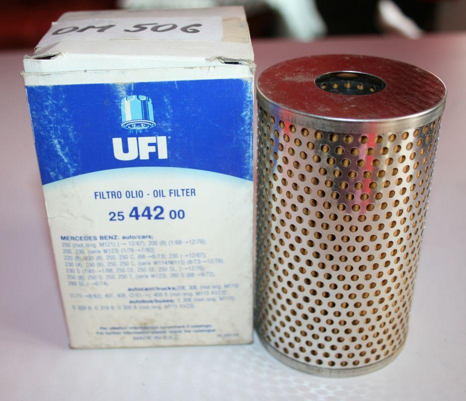 UFI olejový filtr pro veteran Mercedes Benz Ponton+Heckflosse+114+115+123+další