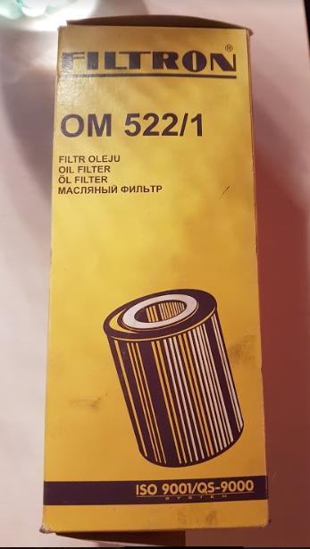 FILTRON - OM522/1 - olejový filtr Bmw (E34) 524 td 85kW+Bertone