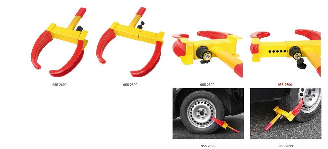 viditelný zámek kola proti odcizení automobilu