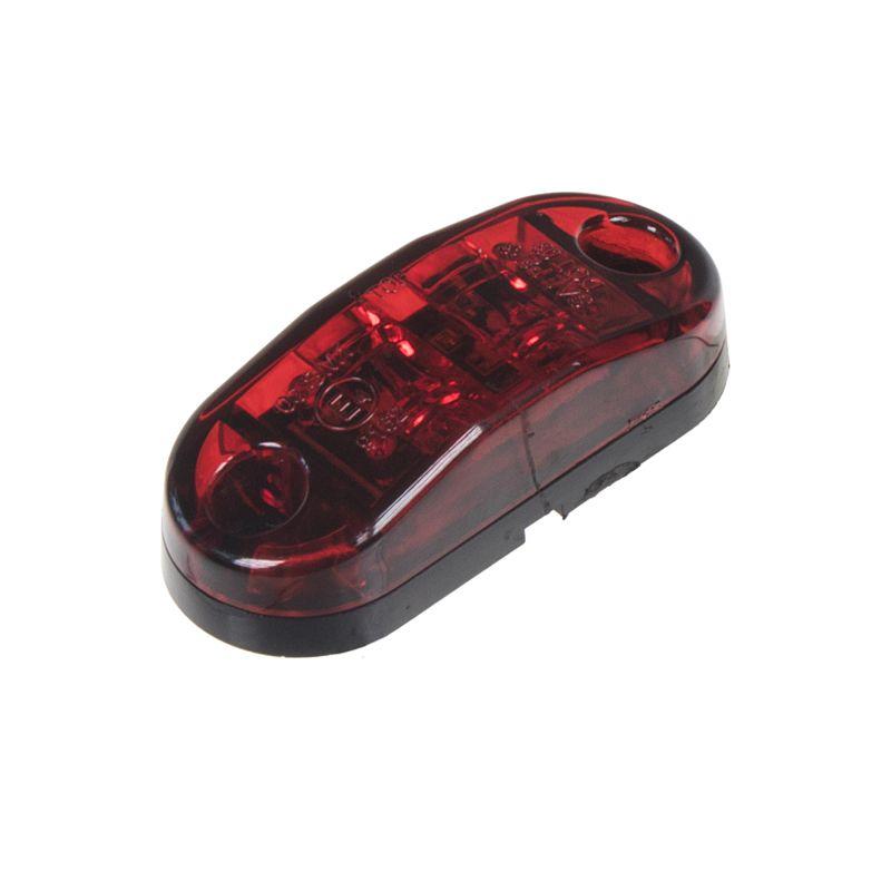 zadní obrysové světlo LED, červený ovál