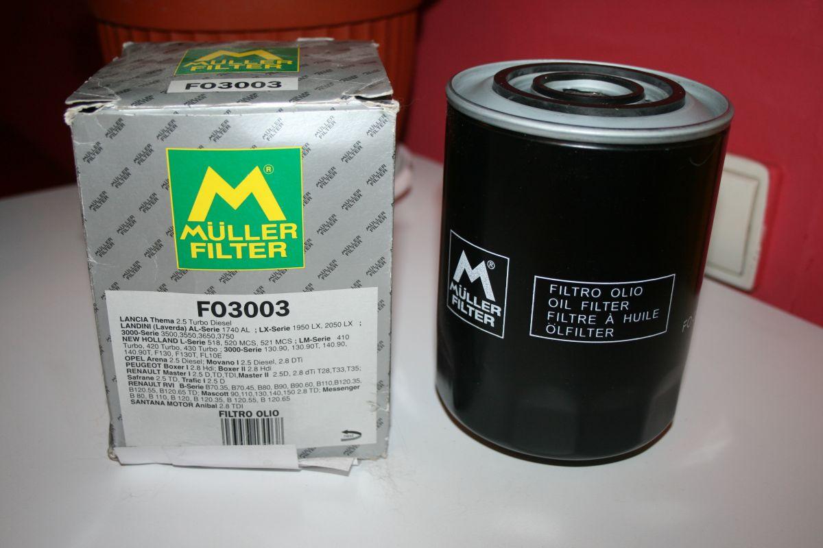 Olejový filtr Jumper+Ducato+Boxer pro naftové motory