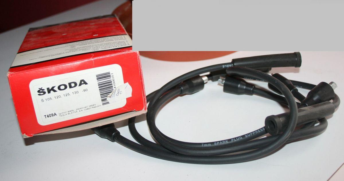 T409A- sada zapalovacích kabelů - TESLA Škoda 105+120
