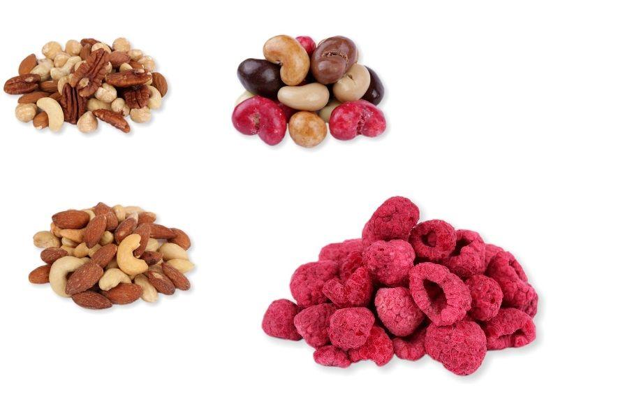 Ořechy natural i ochucené,semena, ovoce a mouky