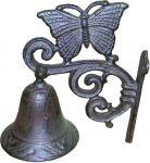 Zvonek domovní motýl litina 195x145x95 mm