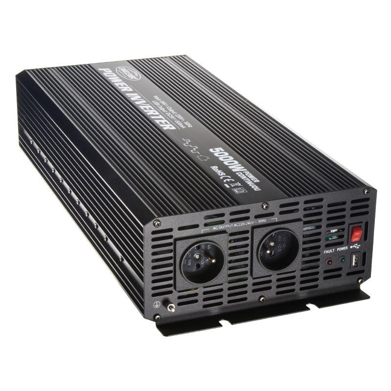 Měnič napětí z 24/230V a USB, 5000W