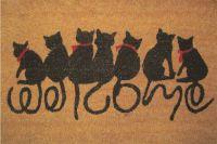 Rohožka PVC+kokos 60x40 cm kočky