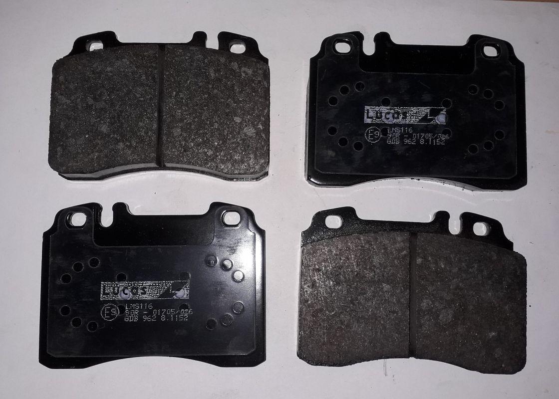 přední brzdové destičky MB 124+129+201+210
