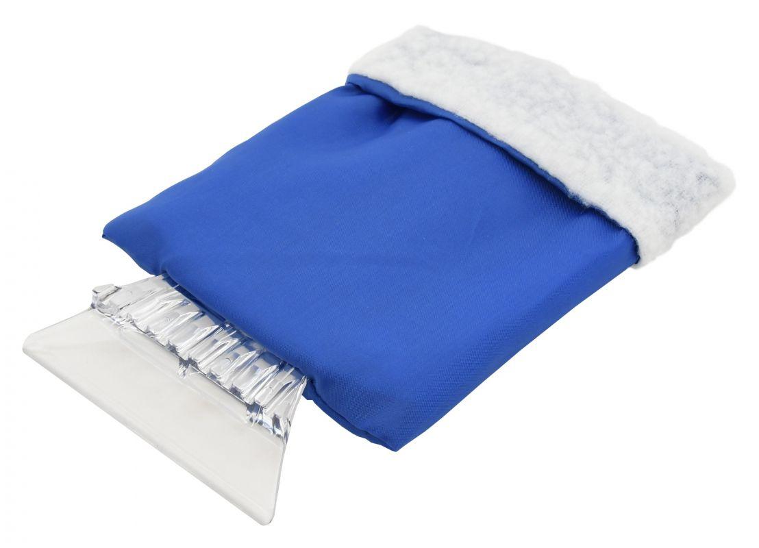 Škrabka na okna v rukavici modrá