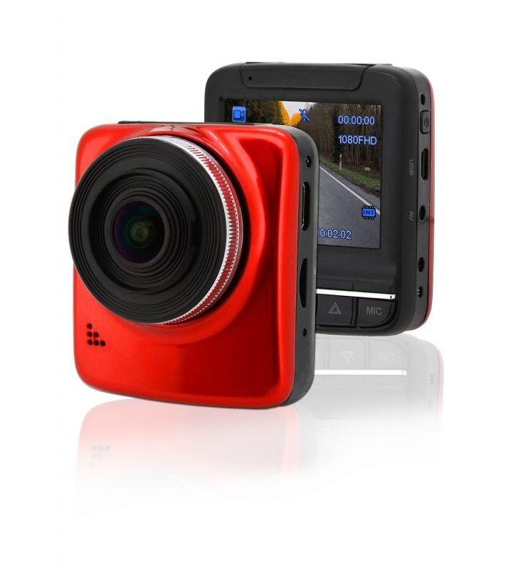"""Kamera do auta Full HD 2,4"""" červená GPS"""