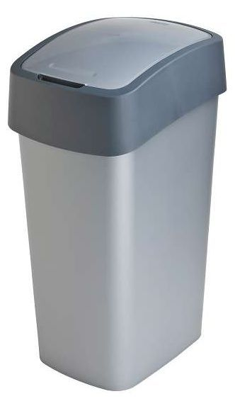 Koš odpadkový Flipbin 50 l stříbrný/antracit