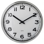 PUGG Nástěnné hodiny, nerezavějící ocel 32cm