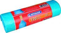 Pytel na odpadky zatahovací 120l/10ks modré SPOKAR