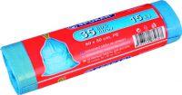 Pytel na odpadky zatahovací 35l/15 ks modré SPOKAR
