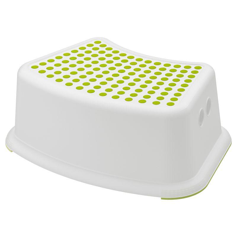 FÖRSIKTIG Dětská stolička, bílá, zelená 37x24x13