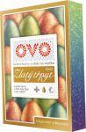 Barvy na vajíčka OVO 4 ks+1 ks efekt zlatý třpyt 1 ks 5 ml