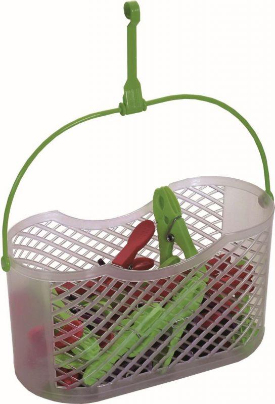 Košík na kolíčky plast závěsný+kolíčky plast 30 ks