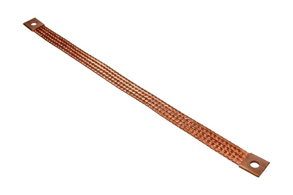 pásek kostřící zemnící mínusový měděný - 350mm