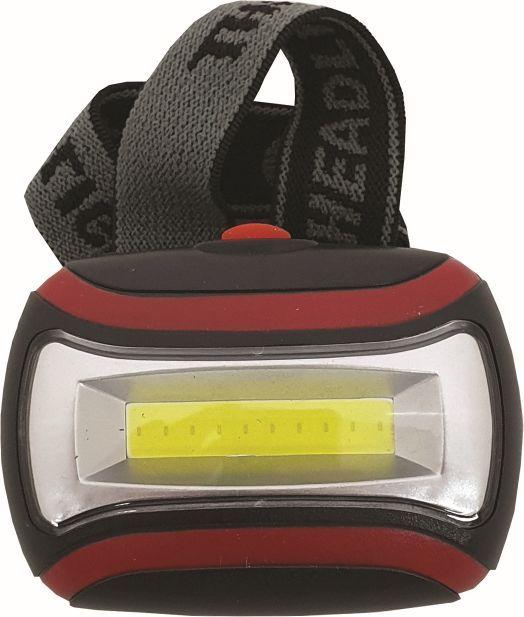 Svítilna čelovka 6,5x4,5x3 cm LED plast