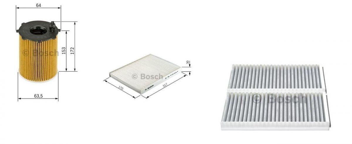 Bosch inspekční sada BMW 5 E60 E61 LCI naftové motory 520D