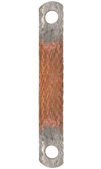 pásek kostřící zemnící mínusový měděný - 250mm