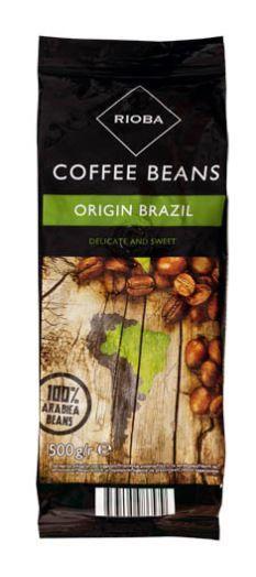 Rioba Brazil 100% Arabica káva zrno 500g