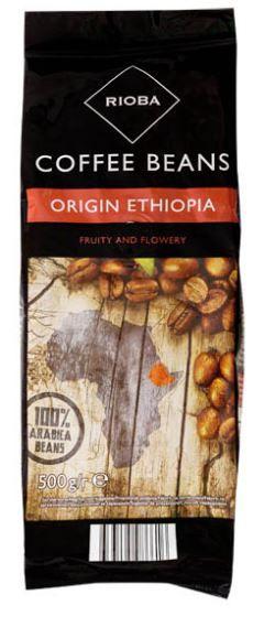 Rioba Ethiopia 100% Arabica káva zrno 500g