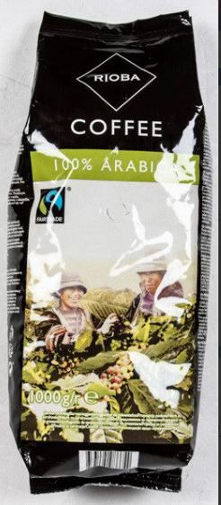 Rioba Fair Trade 100% Arabica káva zrno 1kg