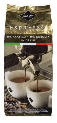 Rioba Gold 80% Arabica káva zrno 1kg
