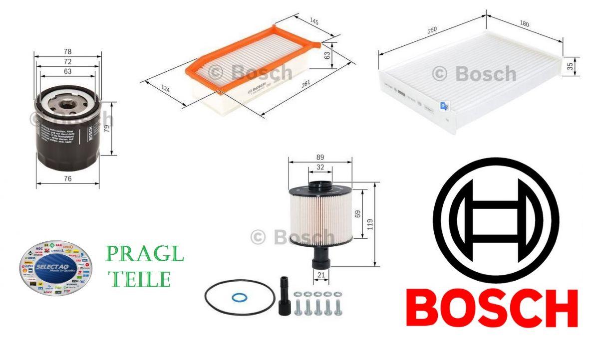 Bosch sada filtrů k výměně Dacia Dokker 1,5DCi
