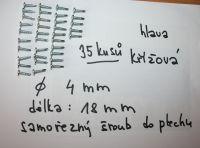 samořezný šroub do plechu průměr 4 mm délka 18 mm