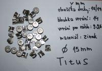 Titus excentry ø15 mm Cam2000 systém 5