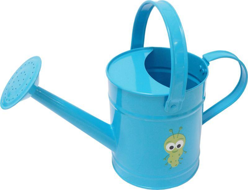 Konvička dětská zahradní kovová 1,6l modrá