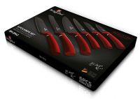 Sada nožů s nepřilnavým povrchem 6 ks Burgundy Metallic Line