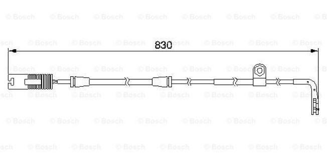 výstražný kontakt signál pro BMW 5 E39 na přední nápravu délka 830mm