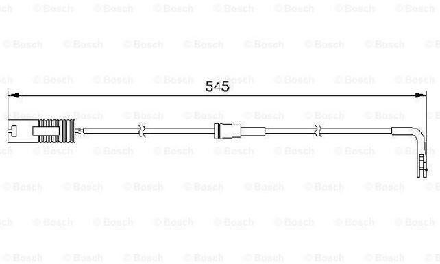 výstražný kontakt signál pro BMW 5 sedan E39 na zadní nápravu délka 840mm