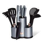 Sada nožů a kuchyňského náčiní ve stojanu 12 ks Moonlight Edition