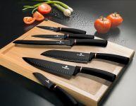 Sada nožů s nepřilnavým povrchem 6 ks Black Rose Collection