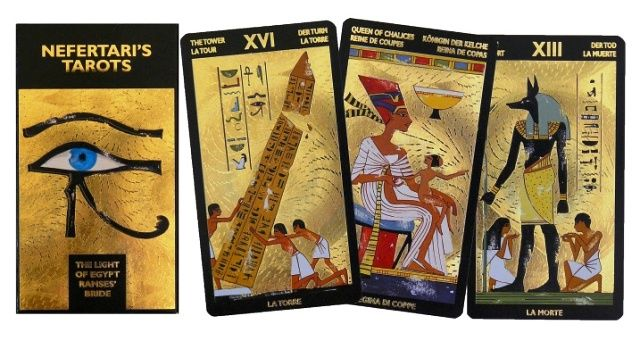 Tarotové karty - Zlatý Tarot Nefertari