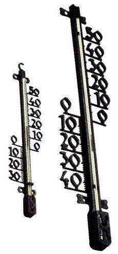 Teploměr venkovní 470x110x25 mm plast