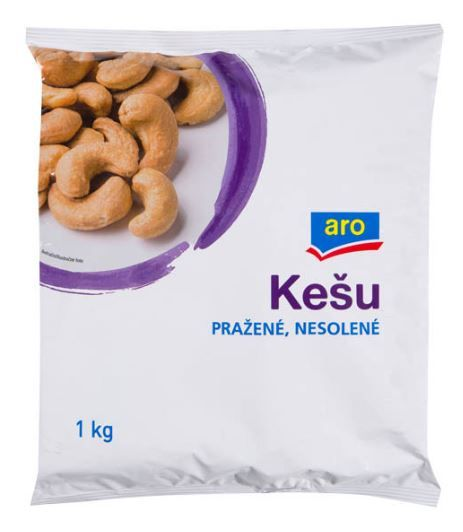 ARO Kešu pražené IN nesolené 1kg