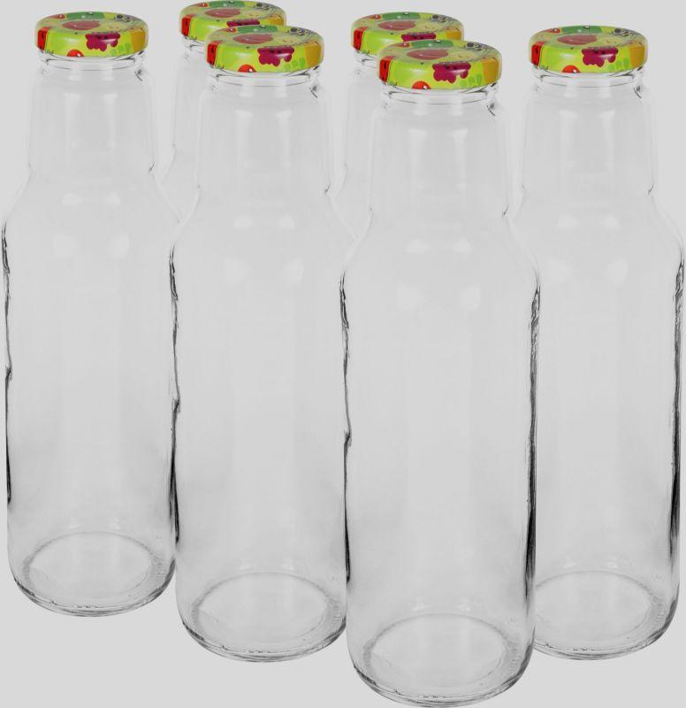 Láhev na mošt 750 ml sklo víčko dekor