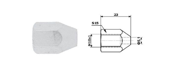 Typ 15 koncovka brzdové trubky