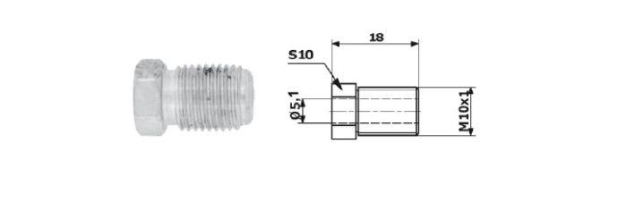 Typ 2DF koncovka brzdové trubky