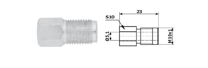 Typ 2X koncovka brzdové trubky