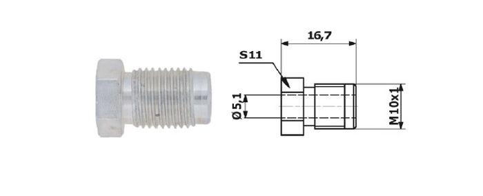 Typ 33 koncovka brzdové trubky
