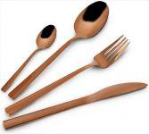 Příbor jídelní 24 dílný Copper nerez v barvě mědi