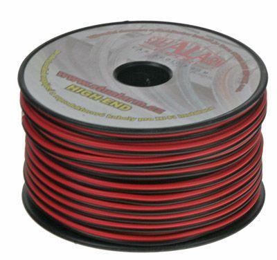 Kabel 2x1 mm, černočervený,1 metr