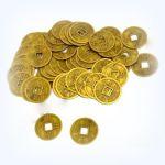 Čínské mince 2,8 cm - 10 kusů v jedné sadě